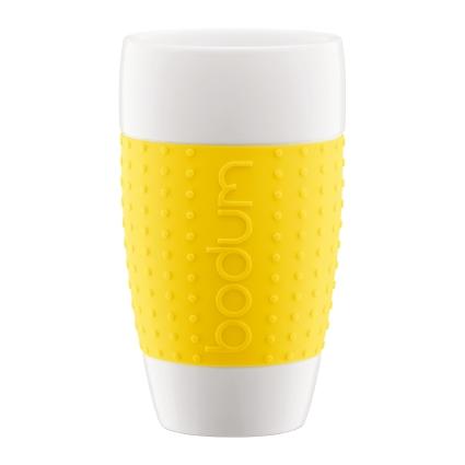 Home U003e ON THE TABLE U003e PORCELAIN U003e Bodum U2013 Pavina Porcelain Mug Yellow (0.5  L, 2 Pcs)