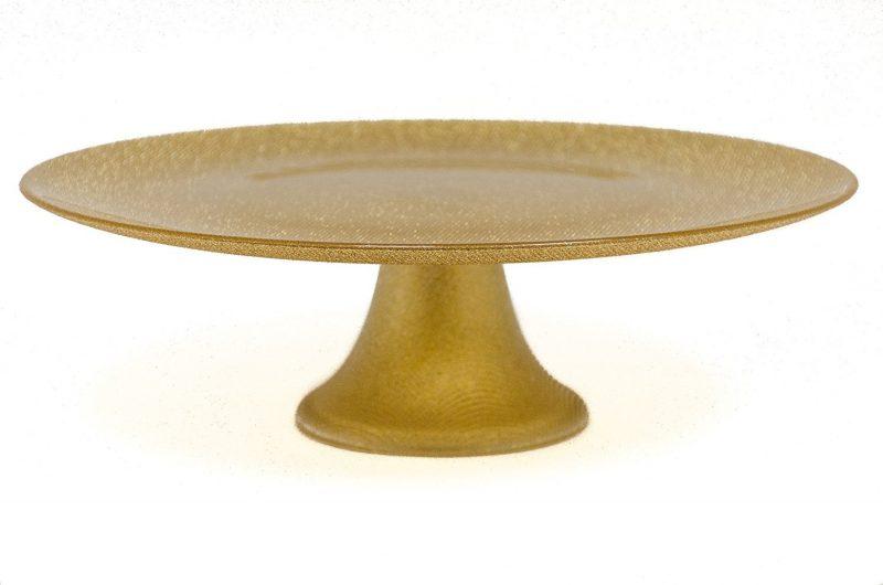 Home \u003e ...  sc 1 st  The Potlok & Luigi Bormiolo - Glitter Gold Cake Plate (33 cm) - The Potlok
