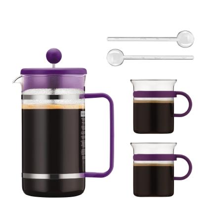 Potlok 5 Purple Bistro Piece Coffee Set The Bodum® In 5ASLqR34cj